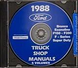 1988 FORD VAN E150 E250 E350 REPAIR SHOP MANUAL CD INCLUDING; Econoline, Club Wagon, Super Wagon Cargo Van Window Van