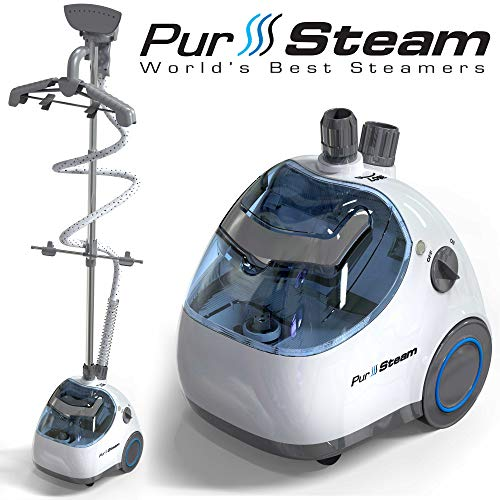 PurSteam Elite Garment Steamer, Heavy Duty Powerful Fabric Steamer with Fabric Brush and Garment Hanger (Rival Garment Steamer)