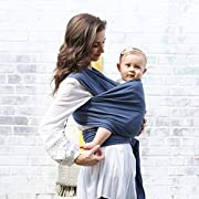 Boba Wrap Baby Carrier, Vintage Blue - Original Stretchy Infant Sling, Perfect for Newborn Babies and Children up to 35 lbs