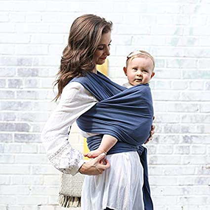 Boba Baby Wrap Carrier Vintage Blue Premium Newborn Infant And Toddler Sling One Size Fits All Up To 35 Lbs 0 18 Months