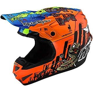 Sale Off Troy Lee Designs SE4 Composite Baja Adult Off-Road Motocross Helmet (Matte Orange Small)