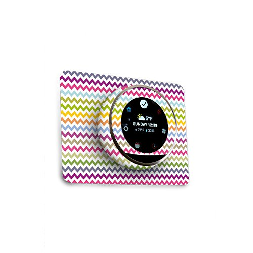 MightySkins Skin for Nest Thermostat - Rainbow Chevron | Protective, Durable, and Unique Vinyl Decal wrap Cover | Easy to Apply, Remove, and Change Styles | Made in The USA