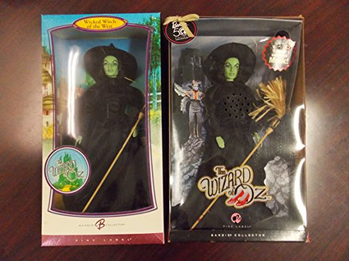 (Barbie Collector Pink Label The Wizard of Oz Set of 2 WICKED WITCHes of the WEST, 2006 and 2008)