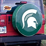 Holland Bar Stool TCSMMichStGN-28 1/2 x 8 Michigan State Tire Cover-Green