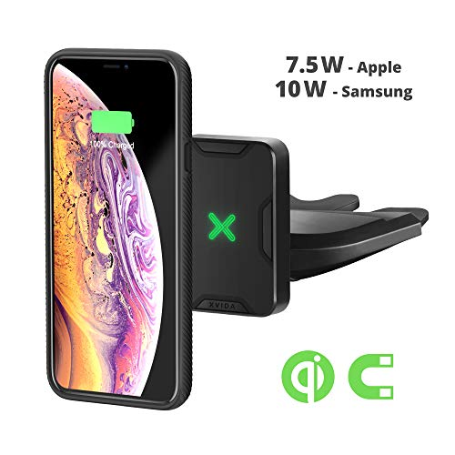 XVIDA Magnetic Wireless Charger Car Mount, CD Slot Phone Holder, QC3.0 Fast Charging, with Fan for iPhone Xs, Max, iPhone XR, Iphonex/8/Plus/Samsung Galaxy S10/S9/8/7/Note 8 and More