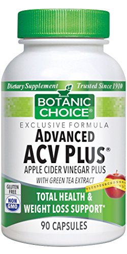 Botanic Choice Acv Plus fortified with Green Tea 90 capsules Bottle Pack of 4