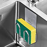 Sponge Holder Sink Caddy for Kitchen Accessories, Adhesive,Rustproof SUS304 Stainless Steel No Drilling