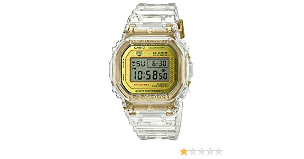 Amazon.com: Casio G-Shock DW-5035E-7JR Glacier Gold 35th Anniversary Clear Skeleton Shock Resistant Watch (Japan Domestic Genuine Products): Watches