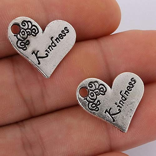SMALL-CHIPINC - 44pcs 10 mix of ancient silver classic luxury romantic heart of the spirit of loyal pendant ladies jewelry by SMALL★CHIPINC