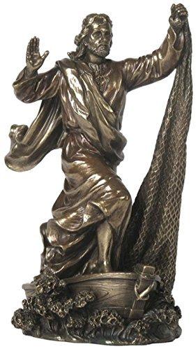 Veronese Collection Jesus The Fisherman 9 Inch Bronze Statue ()