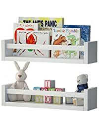 Set of 2 Nursery Room Wall Shelf White Wood BOBEBE Online Baby Store From New York to Miami and Los Angeles
