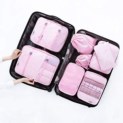 5cad51b64f25 Amazon.com : Saasiiyo 8 pcs/set Portable Polyester Travel Packing ...