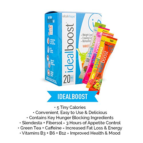 Amazon IdealBoost Weight Loss Drink Mix Packets Variety Pack W Hunger Blocking And Energy Blends 20 Servings Health Personal Care