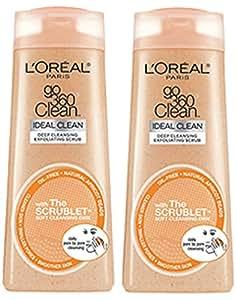 L'Oreal Paris Go 360 Clean Deep Cleansing Exfoliating Scrub, 6.0 fl. oz. (Pack of 2)