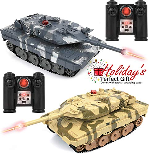 Click N' Play RC Battle Tank Infrared Full Size 15""