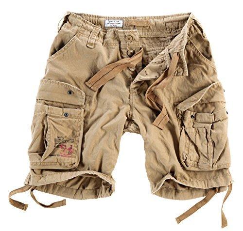 Surplus Men's Airborne Vintage Shorts Washed Beige Size ()