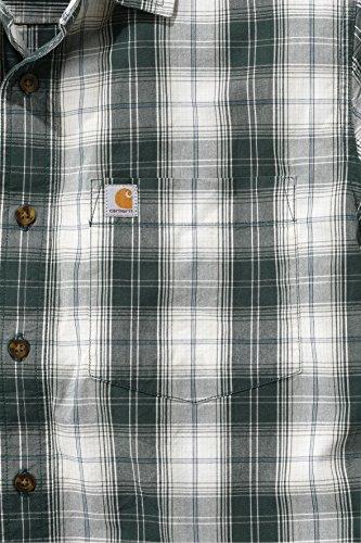 Carhartt Mens 100% Cotton Slim Fit Short Sleeve Chest Pocket Shirt