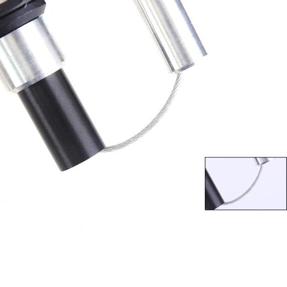 ZY B/âton en Aluminium Pliant 5 Section Pole Trekking b/âton de Marche ext/érieur Portable poign/ée Droite Ceinture Bracelet pour Les Hommes et Les Femmes,Black