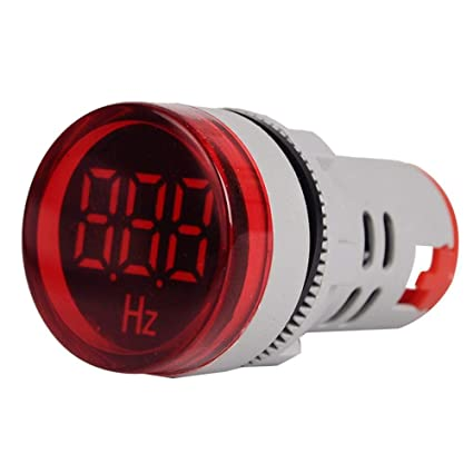 20-75Hz Circular Digital Display Signal AC Frequency Indicator Lamp Signal Light