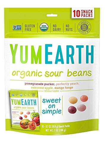 YumEarth Organic Sour Beans, 10 Count (Pack of (Top 10 Candy For Halloween)