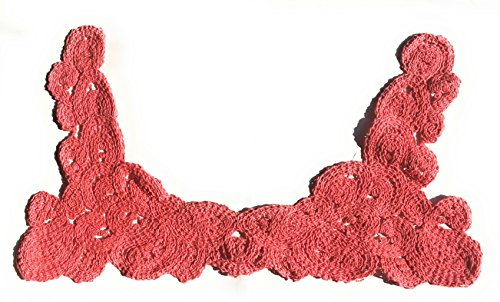 2 Collar Vintage Crochet Lace Collar Raspberry -8.5'' x 15'' by Katz Trimming / Trims Unlimited