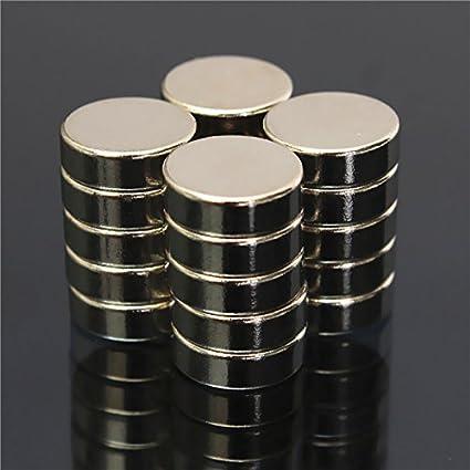 NdFeB - Imanes de disco de neodimio (20 unidades, 9 mm x 3 ...