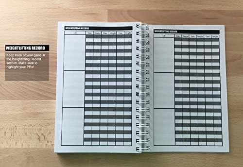 Evolway Fitness Workout Journal For Exercise Planner Food Diary Log
