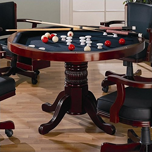 Coaster Mitchell 3-in1- Game Table in (Oak Oval Folding Table)