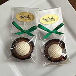 12 GOLF BALL Milk Chocolate Covered Oreo Cookie Party FAVORS (One Dozen) Sports