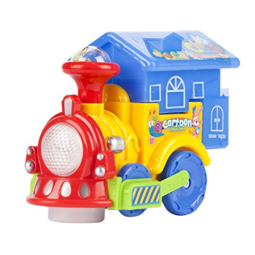 Train for Toddlers with Music Light  Toy Train for Toddler Electric Toy Train with Light  Music Battery Operated Train for 3 years Old (Tossed Trains)