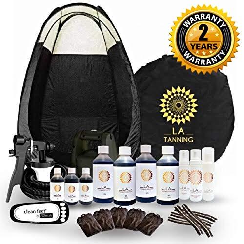 STAR BUY!! Latest Spray Tanning Kit, TS20 Machine, Black Tent, Mousses, 7...