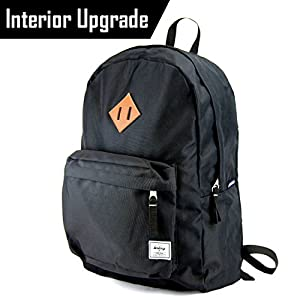 Benteng Premium Lightweight Water Resistant School Backpack with Aluminum Interior - Laptop Backpack that fits 15.6-Inch Laptop Notebook (Premium Black)