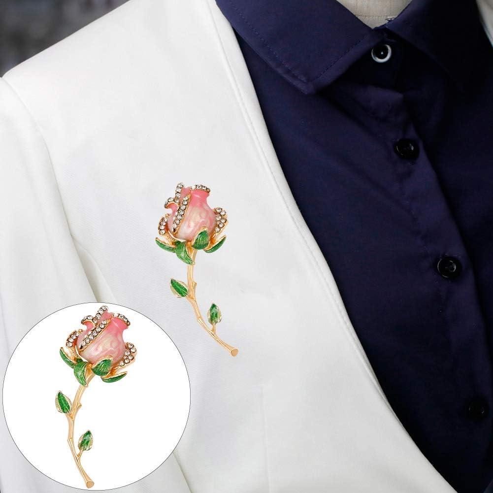 Ogquaton Broche fleur incrust/ée V/êtement D/écoration Bijoux Cadeaux Pratique et populaire