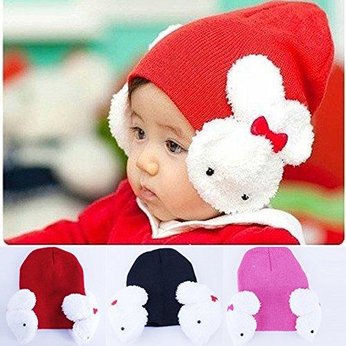 baby-winter-hat-knitting-wool-kids-rabbie-earflap-toddlers-cap-red