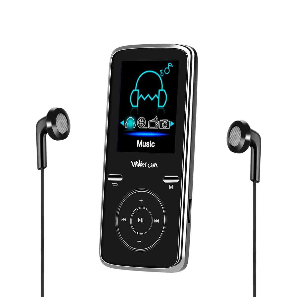 Walkercam M6 Reproductor de MP3 8GB Deporte portátil Sin pérdida de Sonido Hi-Fi Reproductor de música Digital con Auriculares Radio FM y grabadora de Voz, Ampliable hasta 32 GB