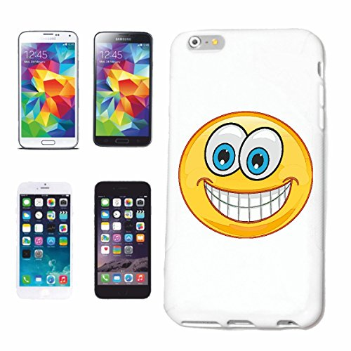 "cas de téléphone iPhone 7+ Plus ""LAUGHING SMILEY MESH ""SMILEYS SMILIES ANDROID IPHONE EMOTICONS IOS grin VISAGE EMOTICON APP"" Hard Case Cover Téléphone Covers Smart Cover pour Apple iPhone en blanc"