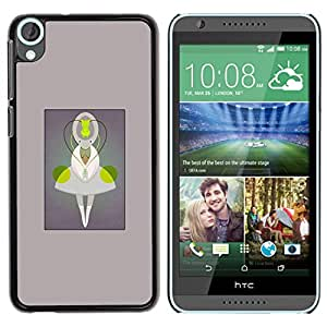 For HTC Desire 820 Case , Being Character Cartoon Monster - Diseño Patrón Teléfono Caso Cubierta Case Bumper Duro Protección Case Cover Funda