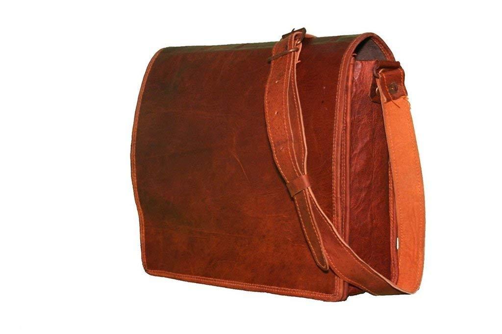 Men women Genuine Vintage Leather Satchel Messenger Bag Laptop Briefcase Bag