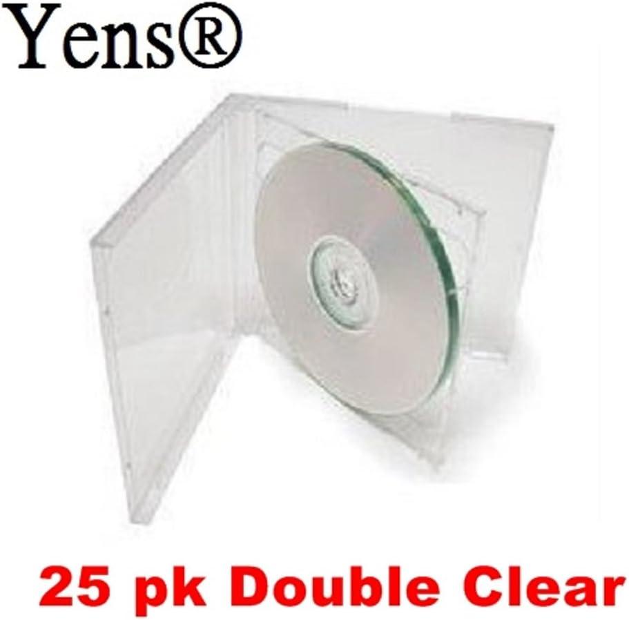 Assembled Yens 25pk Clear Double CD Jewel Case
