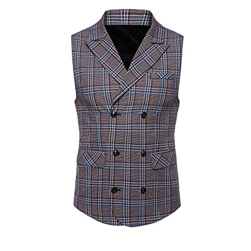 SMALLE ◕‿◕ Clearance,Men Plaid Casual Printed Sleeveless Jacket Coat British Suit Vest Blouse by SMALLE (Image #1)