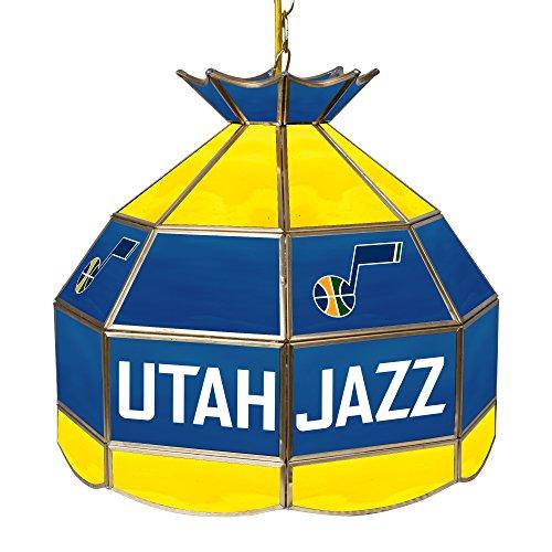 NBA Utah Jazz Tiffany Gameroom Lamp, 16'' by Trademark Gameroom