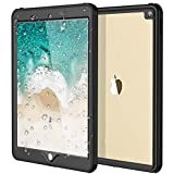 iPad Pro 10.5 Waterproof Case(2017), iThrough IP68 iPad Pro 10.5 Protect Sleek Shell,Shock Drop Rain Snow Proof Underwater Transparent Cover for iPad Pro 10.5 with Built in Screen Protector (Black)