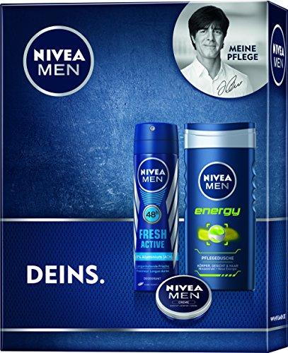 Nivea Men Geschenkset Fresh Deo, Duschgel und Creme, 1er Pack (1 x 3 Stück)