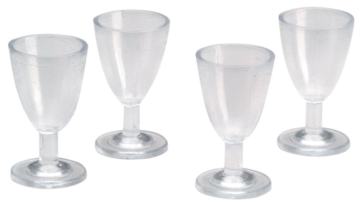 Amazon.com: Timeless Miniatures-Wine Glasses 4/Pkg: Toys & Games