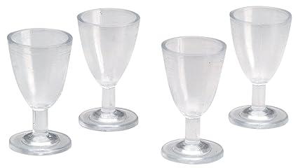 42b3766dd90 Amazon.com  Timeless Miniatures-Wine Glasses 4 Pkg  Toys   Games