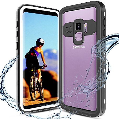 (XBK Waterproof Case for Samsung Galaxy S9, Waterproof Case with Built-in Screen Protector, Full-Body Rugged Resistant Protective Hard Cover Case for Galaxy S9 (2018) (Black&White))