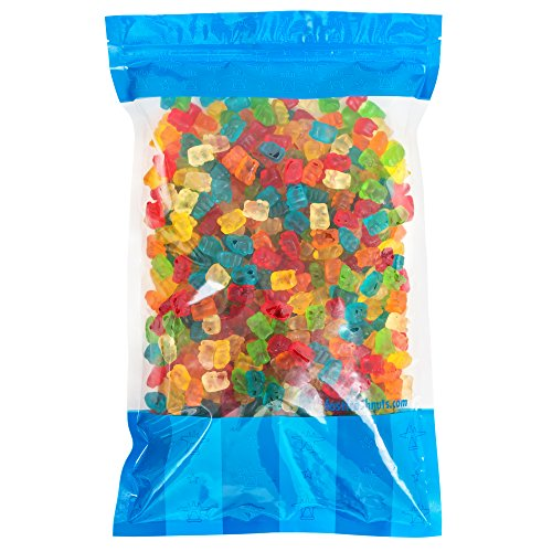 Bulk Gummy Bears - 5 lbs Resealable Bomber Bag - Great for Candy Bowls - Wholesale - Vending Machines - Party Size!!! by Fast Fresh Nuts
