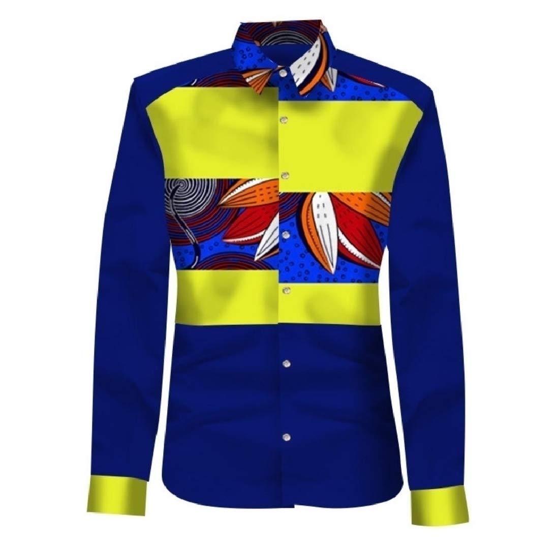 Doufine Men Plus Size Batik Mulit Color Dashiki African Print T-shirts Six 3XL