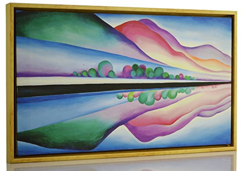 Berkin Arts Framed Georgia O'Keeffe Giclee Canvas Print Paintings Poster Reproduction Fine Art Home Decor (Lake George ()