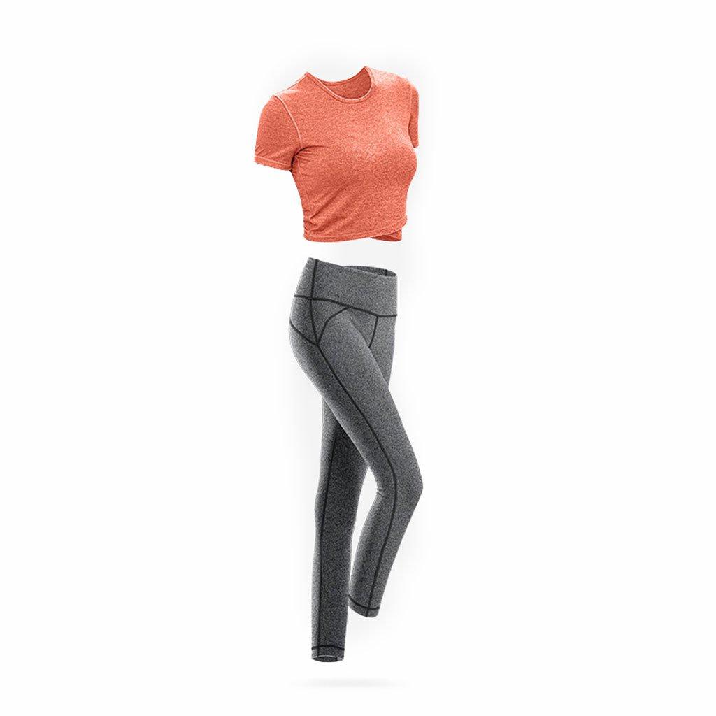 Orange Kmgjc Vêtements de Sport Femmes Shorts Courts Shorts Stretch Yoga Fitness Costume été Gym Sports Sexy à Séchage Rapide XL